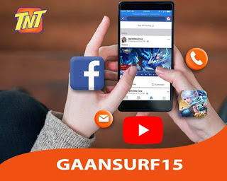 TNT GaanSurf15 – 15 Pesos Internet with Free Apps