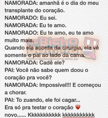 """""""Estória"""" - Transplante de Coração!!!"""