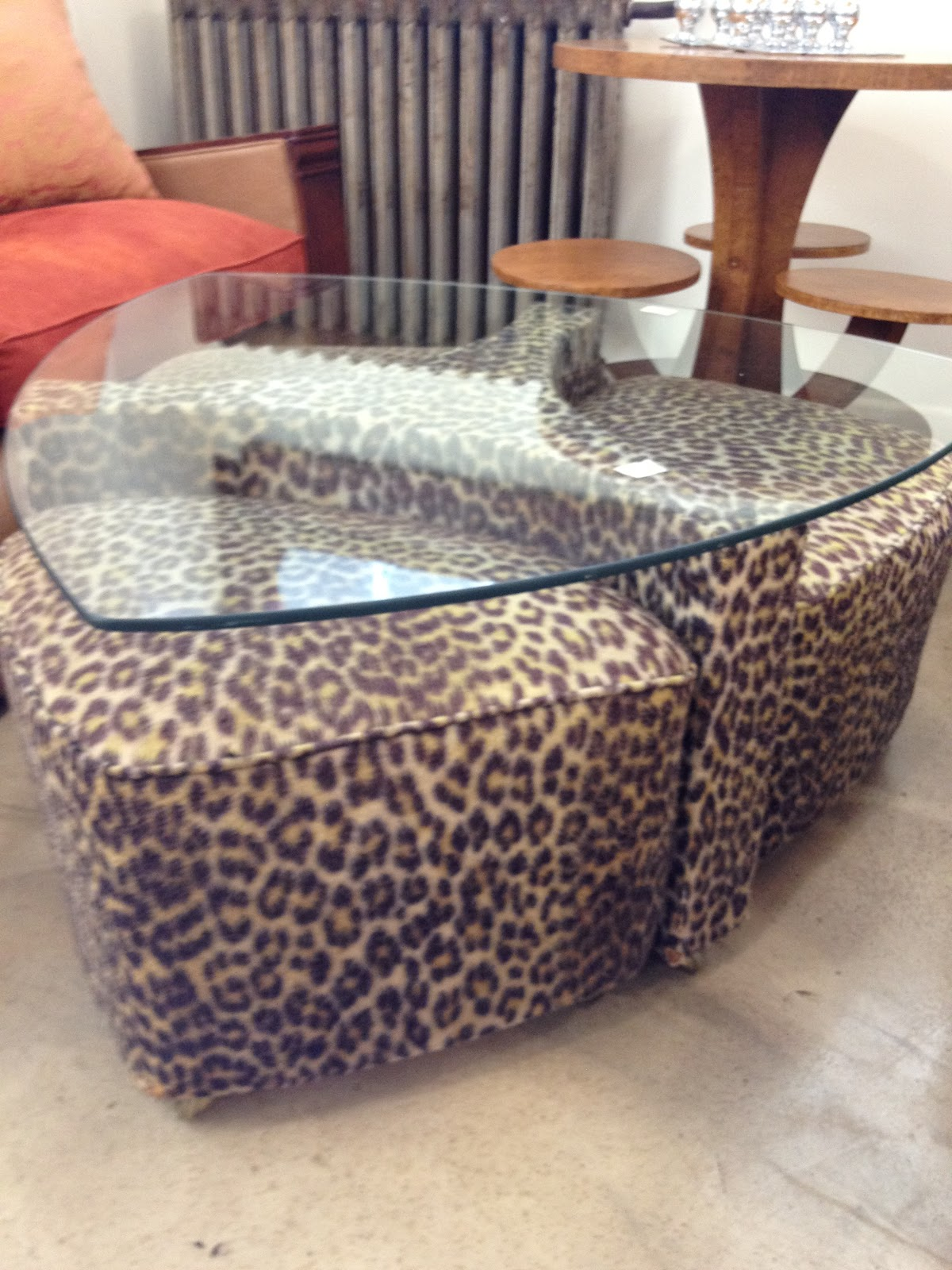 1970 S Leopard Print Coffee Table