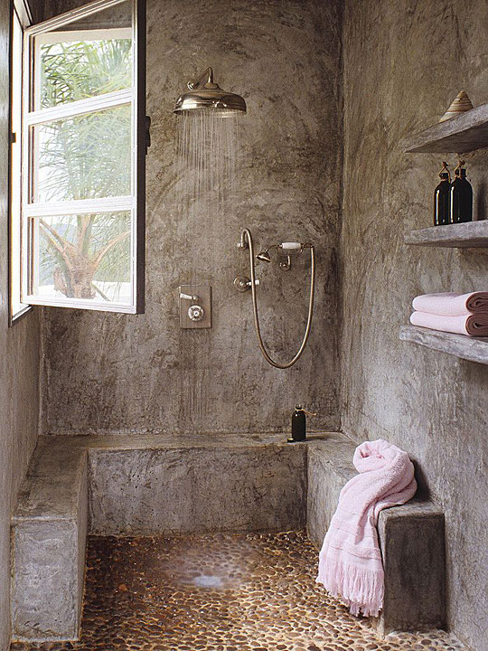 now this is a shower