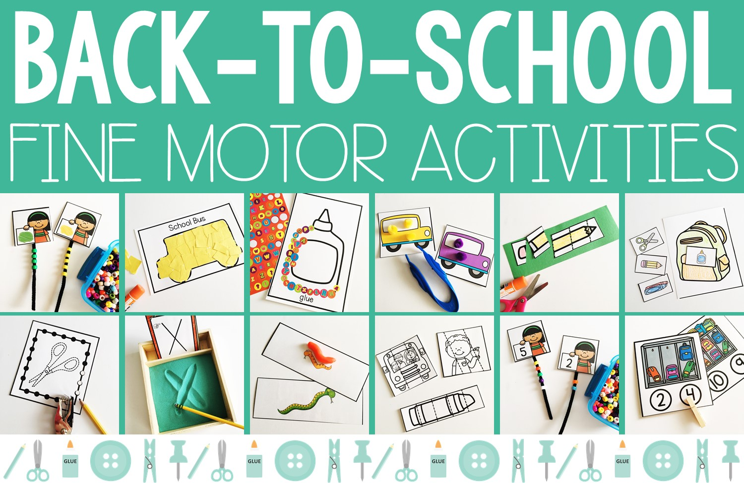 Back-to-School Fine Motor Activities | Resources by Mrs. Roltgen