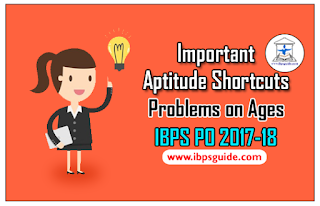 Important Aptitude Shortcuts and Mind Tricks for Problems on Ages | IBPS PO 2017-18