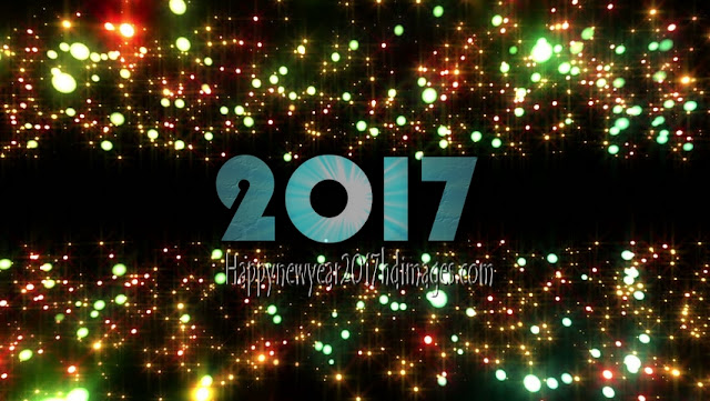 New Year 2017 HD Photos With Sparkling Background Download For Desktop