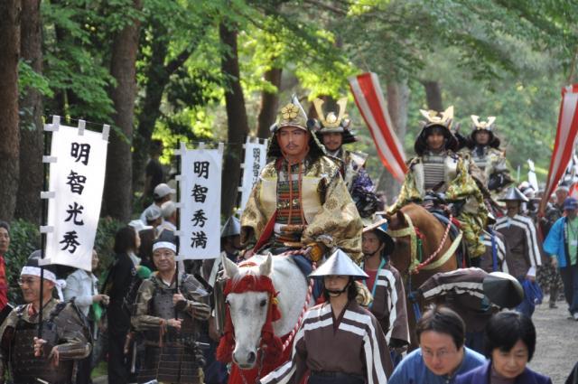 Kameoka Mitsuhide Matsuri (spring carnival tribute to Akechi Mitsuhide), Kameoka City, Kyoto