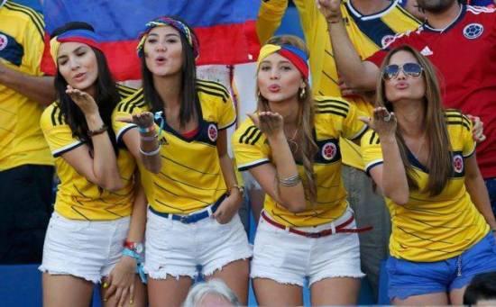 Suporter cantik Negara Kolombia piala dunia 2018