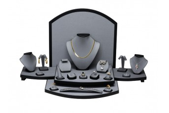 Jewelry Display Set, 27 3/4'' to 33 1/2''W x 15 1/2''D x 13 1/2''H