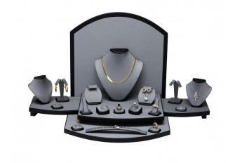 Jewelry Display Set, 27 3/4'' to 33 1/2''W x 15 1/2''D x 13 1/2''H