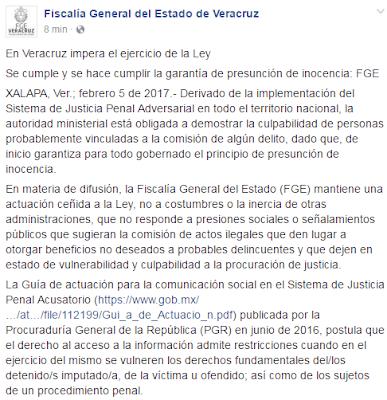 FGE Responde carta abierta de periodistas en Veracruz