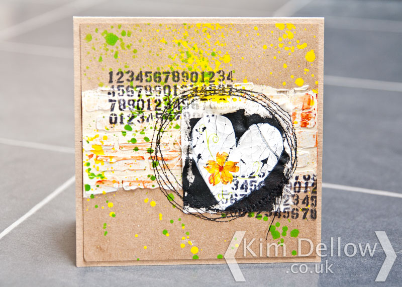 A mixed Media card
