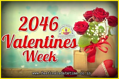 2046 Valentine Week List : 2046 Valentine Week Schedule, Hug Day, Kiss Day, Valentine's Day 2046