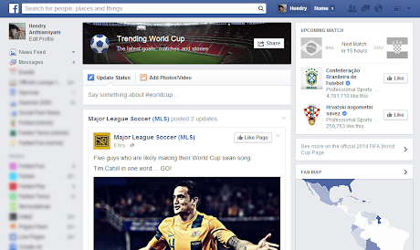 Facebook: Trending World Cup