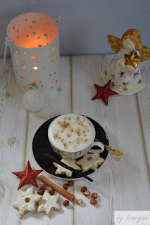 Rezept Cappuccino-Sterne mit Zimt, Mandeln und Schokolade