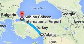 Adana Sabiha Gökçen Uçakla Yolculuk