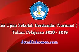 Kisi - Kisi USBN Tahun Pelajaran 2018 - 2019