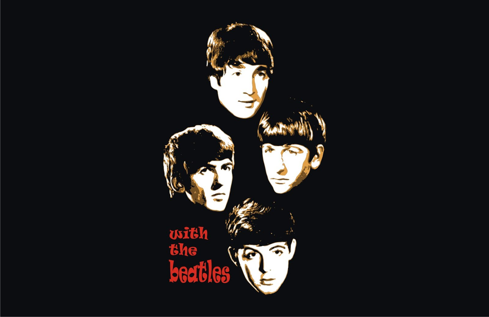 The Beatles With The Beatles Vector T Shirts