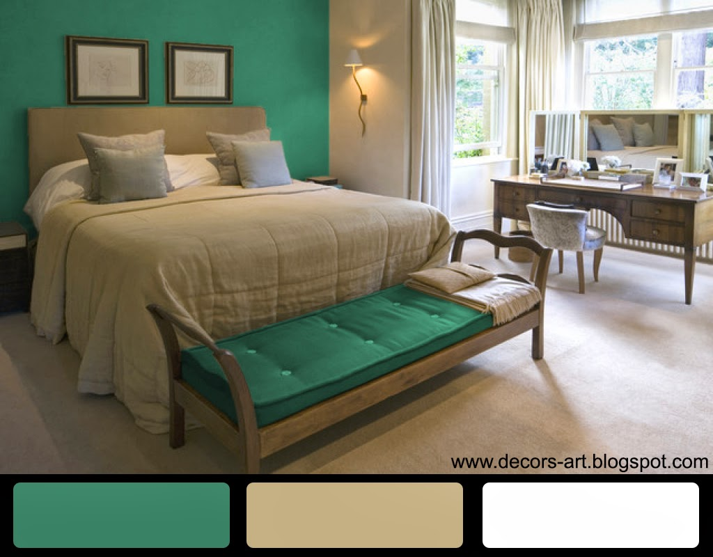 Turquoise Bedroom, Ideas Color, Decorating: March 2014