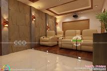 Kerala Home Theater Interior Set - Design
