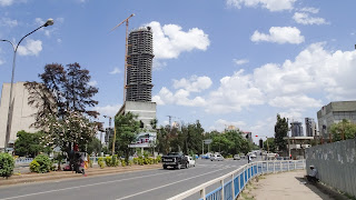 Modern Addis Ababa is under construction