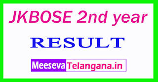 JKBOSE 2nd year Result 2017