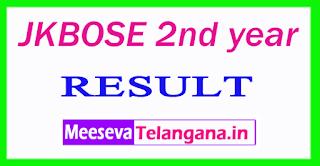 JKBOSE 2nd year Result 2017