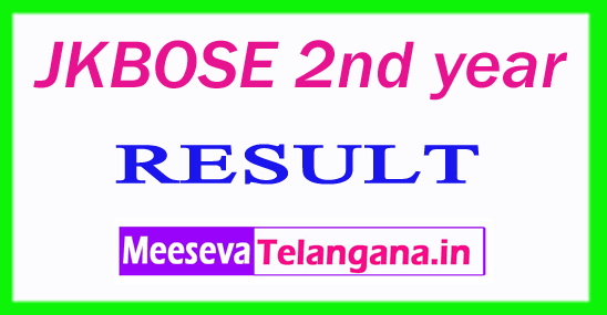 JKBOSE 2nd year Result 2019