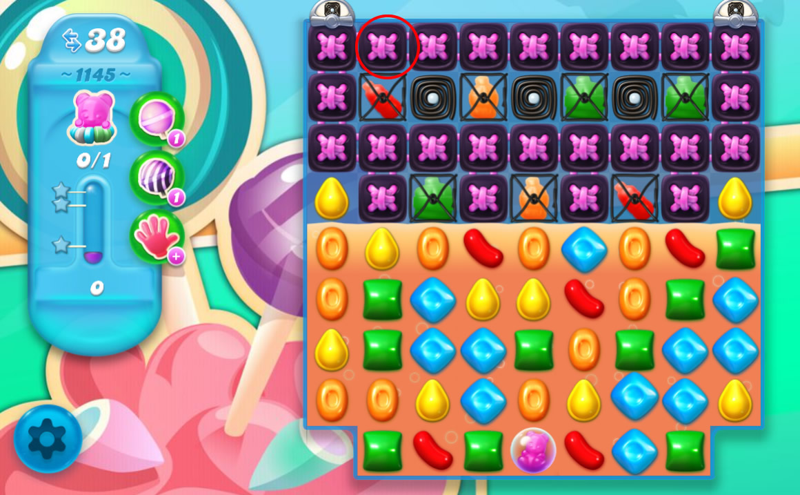 Candy Crush Soda Saga level 1145