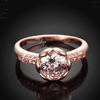 LISSOME ROSE GOLD 0.6CT WHITE SAPPHIRE PROMISE RING