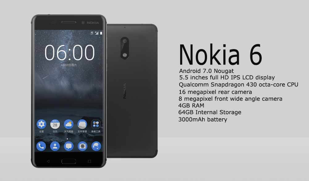 Availability Of Nokia 6 Android Smartphone Announced By