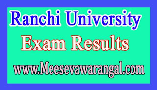 Ranchi University M.Phil 1st Sem July 2015 Exam Results