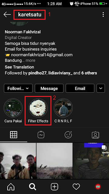 Cara Main Head Quiz Instagram