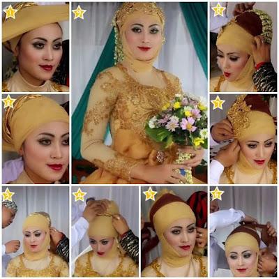 Tutorial Hijab Pengantin ala Lazera untuk Acara Akad Nikah dan Resepsi Pesta Pernikahan