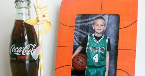 my life homemade: DIY Wood Basketball Frame Craft for Kids
