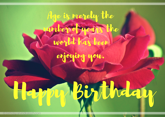 Red Rose, Age, years, number, birthday card, happy birthday,