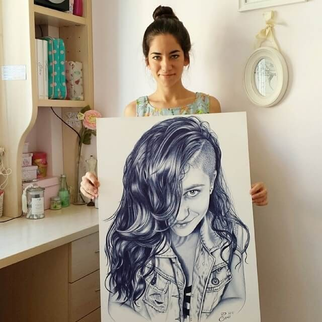 07-40-hours-to-Complete-Eva-Garrido-Ballpoint-Bic-Pen-Portrait-Drawings-www-designstack-co