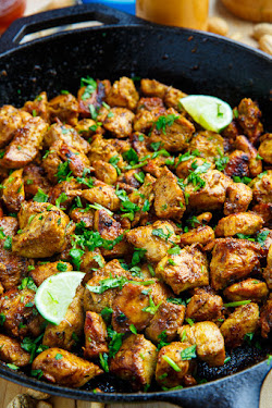 Skillet Chicken Satay