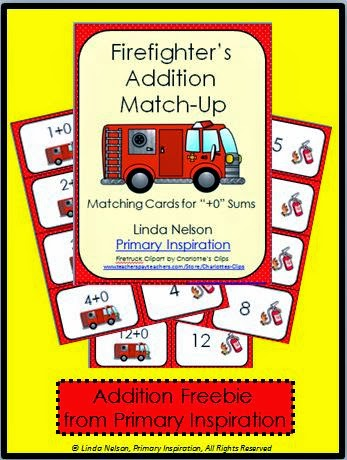 http://primaryinspiration.blogspot.com/2013/10/addition-with-firefighters-freebie.html