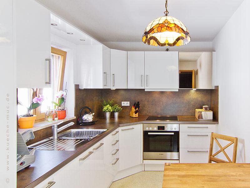 graue küche braune arbeitsplatte  graue küche graue