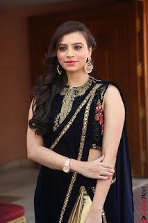 Priyanka Ramana in Beautiful Designer Black Saree At We Craft Elegance Expo Launch 060.JPG