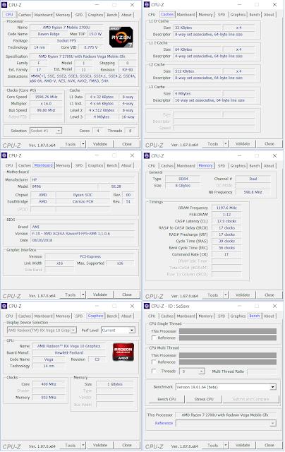 HP ENVY X360 13-ag0023au - CPU Z
