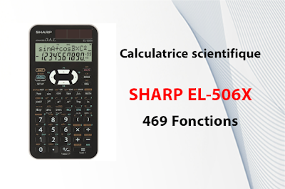 Calculatrice scientifique SHARP EL-506X - 469 Fonctions
