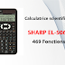 Calculatrice scientifique SHARP EL-506X - 469 Fonctions (Statistique - Matrice)