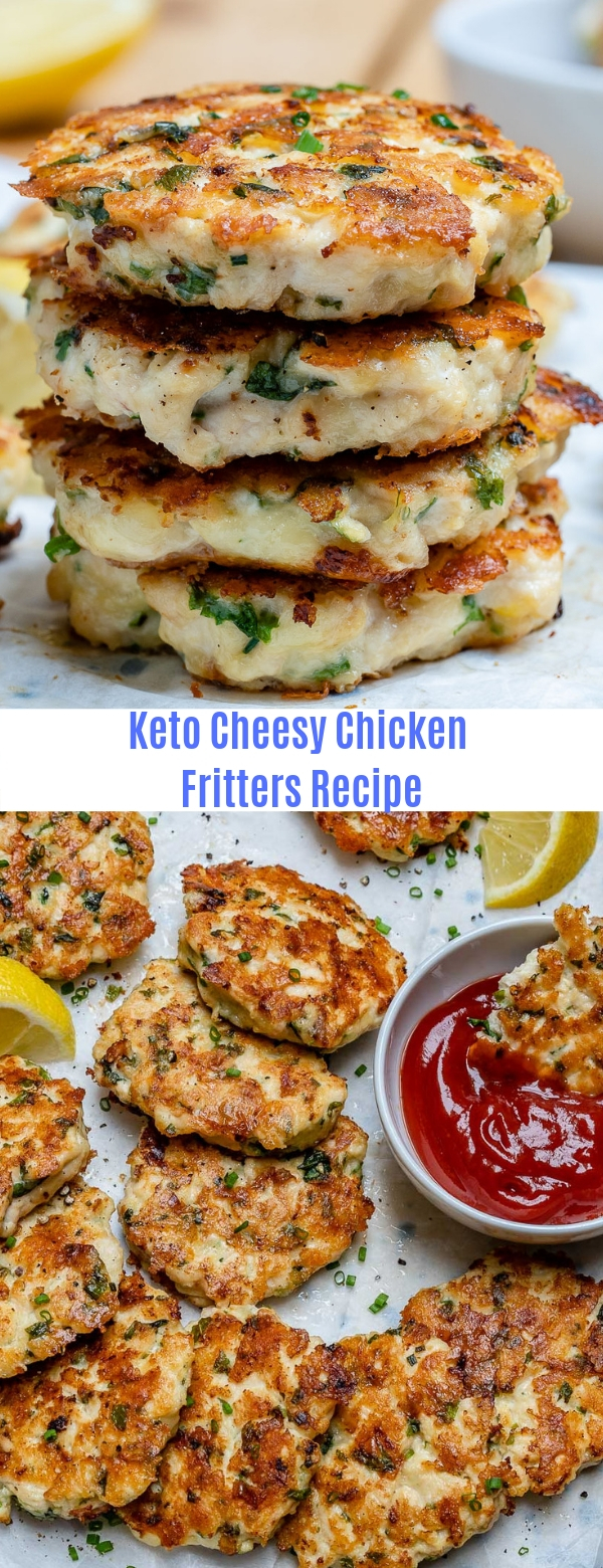 Keto Cheesy Chicken Fritters Recipe