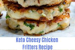 Keto Cheesy Chicken Fritters Recipe