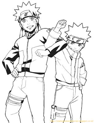 Mewarnai Gambar Naruto - 1