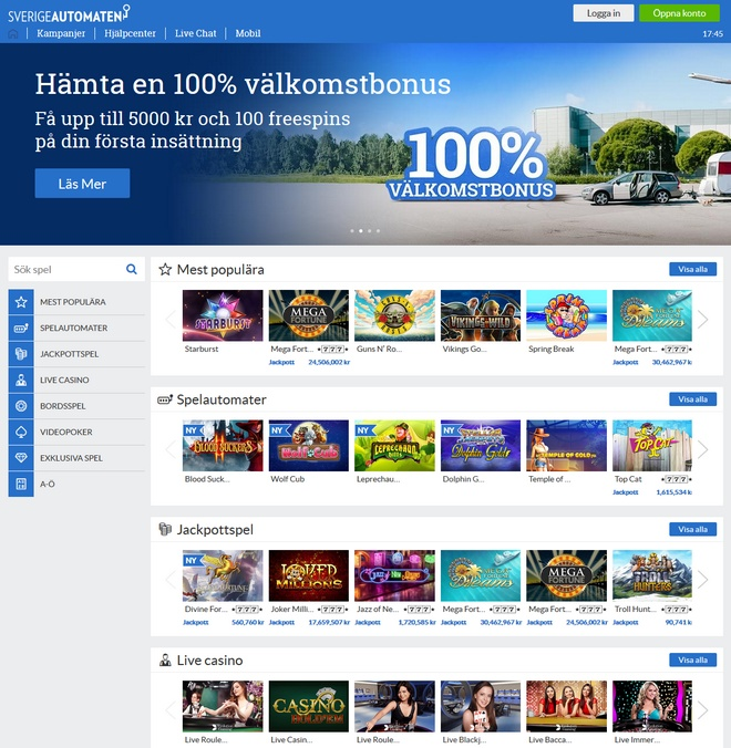 SverigeAutomaten Screen