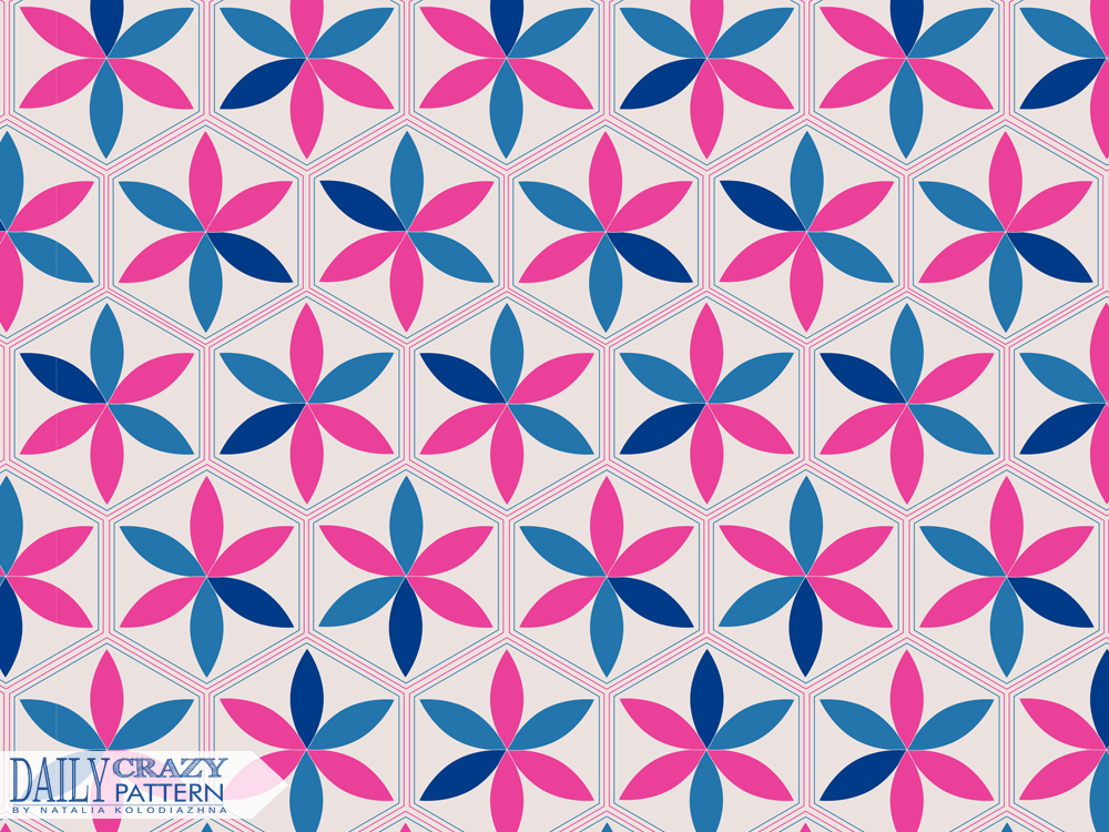 "Geometric pattern for ""Daily Crazy Pattern"" project"
