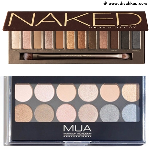Urban Decay Naked Eye Shadow Palette Drugstore Dupe