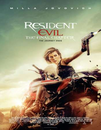 Poster Of Resident Evil The Final Chapter 2016 Hindi Dual Audio 400MB HDTC 720p HEVC Free Download Watch Online downloadhub.in