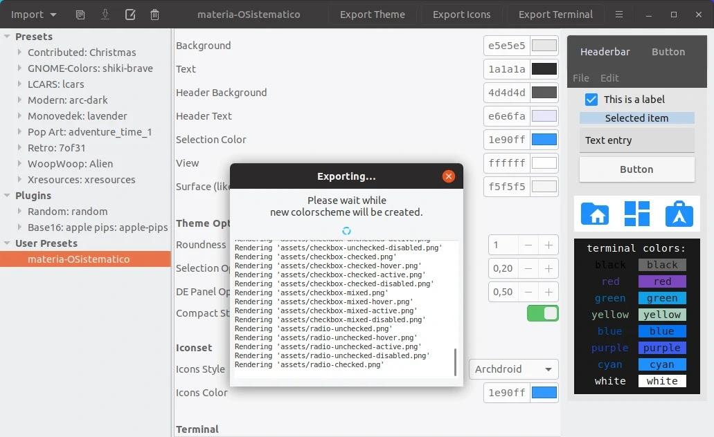 Oomox, uma ferramenta para criar temas GTK - Diolinux - O modo Linux