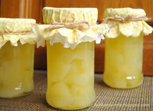 cukinia slodko kwaśna a'la ananas przetwory na zimę babkawformie.blogspot.com